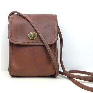 Vintage Coach Scooter Leathers Crossbody Bag #9893